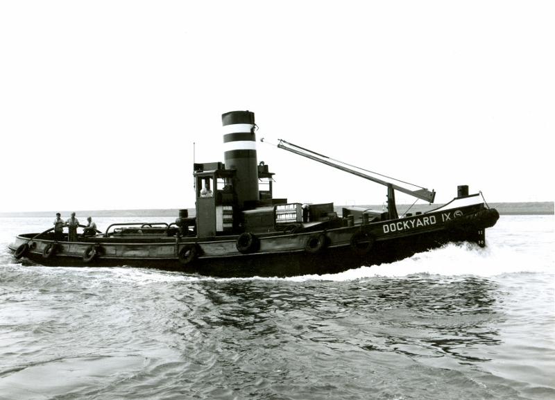 Dockyard IX op de rivier
